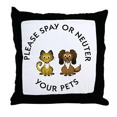 Spay or Neuter Throw Pillow