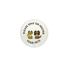 Spay or Neuter Mini Button (100 pack)