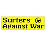 Surfers Against War bumper sticker