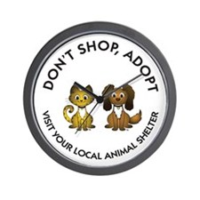 Don't Shop, Adopt Wall Clock