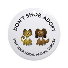 Don't Shop, Adopt Ornament (Round)