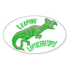Green Leptoceratops Oval Decal