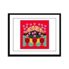 ASIAN CHERRY BLOSSOMS Framed Panel Print