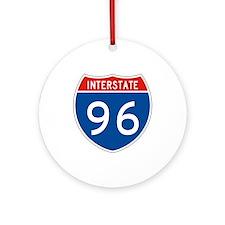 Interstate 96, USA Ornament (Round)