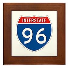 Interstate 96, USA Framed Tile