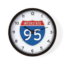 Interstate 95, USA Wall Clock