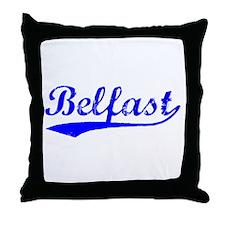 Vintage Belfast (Blue) Throw Pillow