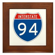 Interstate 94, USA Framed Tile