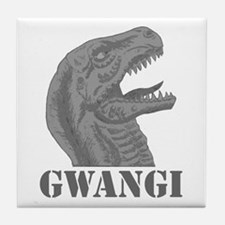 Grayscale Gwangi Tile Coaster