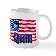 Ayanna Personalized USA Flag Mug