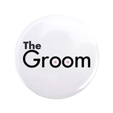 "The Groom 3.5"" Button"