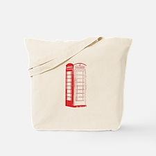Cute Red phone box Tote Bag