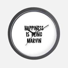 Happiness is being Marvin Wall Clock