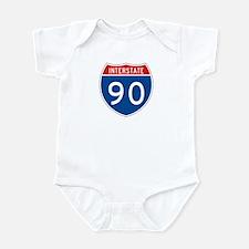Interstate 90, USA Infant Bodysuit