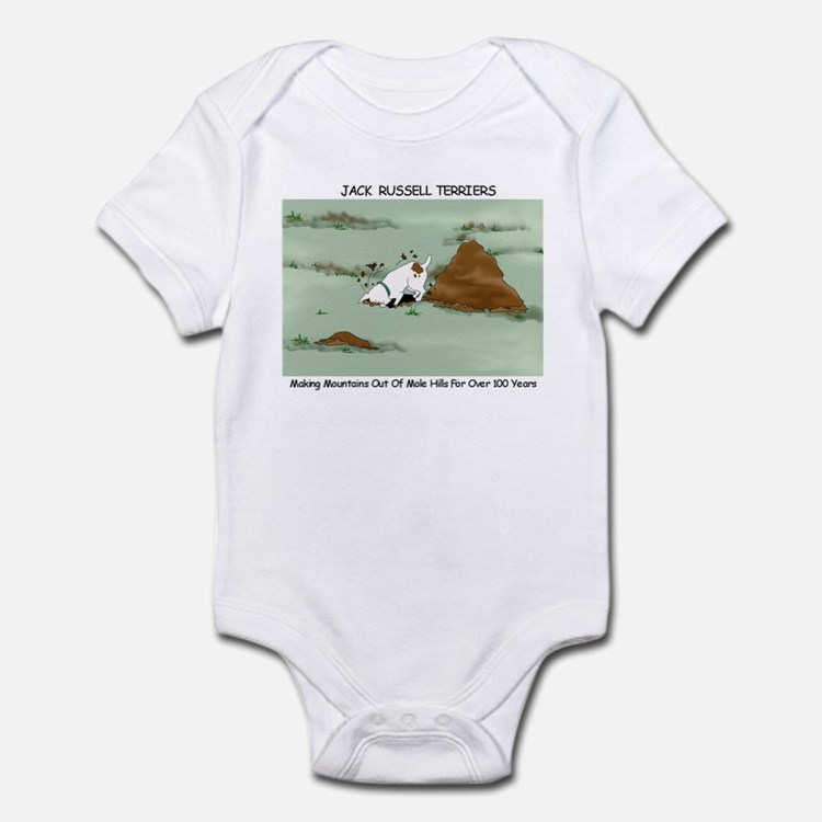 Jack Russell Terriers Digging Infant Creeper