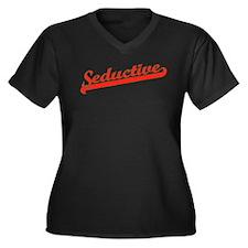 Seductive Women's Plus Size V-Neck Dark T-Shirt