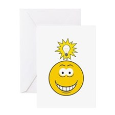 Bright Idea Smart Smiley Face Greeting Card