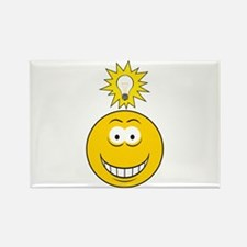 Bright Idea Smart Smiley Face Rectangle Magnet