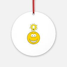 Bright Idea Smart Smiley Face Ornament (Round)