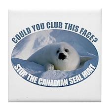 Canadian Seal Hunt Tile Coaster