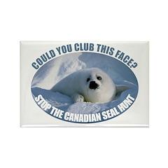Canadian Seal Hunt Rectangle Magnet (100 pack)