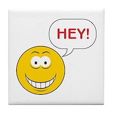 HEY Smiley Face Tile Coaster