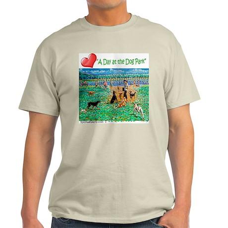 Calling All Dogs! Dog Park-3 Light T-Shirt