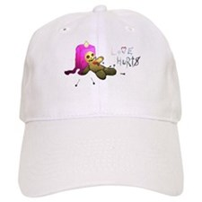 Love Hurts - white or tan baseball cap