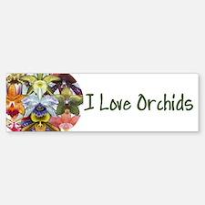 I Love Orchids Bumper Bumper Bumper Sticker