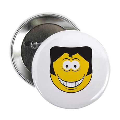"Elvis Impersonator Smiley Face 2.25"" Button"