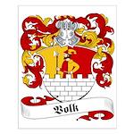 Volk Family Crest Small Poster