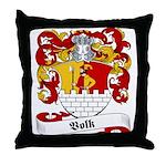 Volk Family Crest Throw Pillow