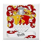 Volk Family Crest Tile Coaster