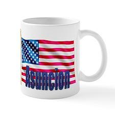 Asuncion Personalized USA Flag Small Mug