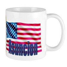 Asuncion Personalized USA Flag Small Mug