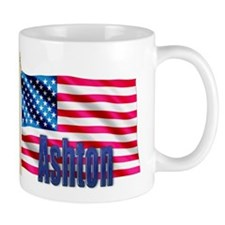 Ashton Personalized USA Flag Mug