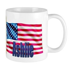 Ashlie Personalized USA Flag Mug