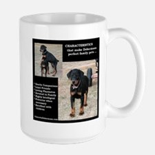 Doberman Characteristics Large Mug