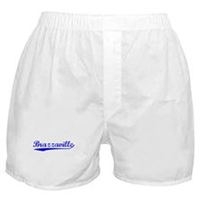 Vintage Brazzaville (Blue) Boxer Shorts