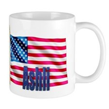 Ashli Personalized USA Flag Mug