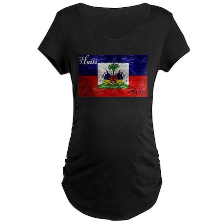 Haiti - Ayiti Flag Maternity Dark T-Shirt