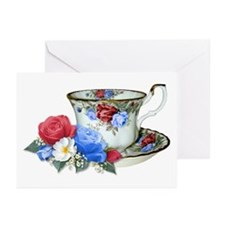 American TeaCup Greeting Cards (Pk of 10)