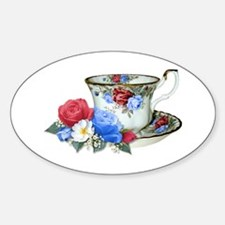American TeaCup Oval Decal