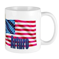 Arturo Personalized USA Flag Mug