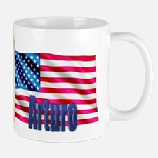 Arturo Personalized USA Flag Mug