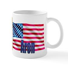 Aron Personalized USA Flag Mug