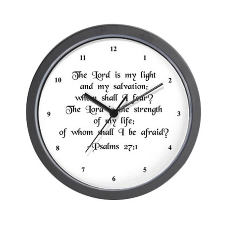 """The Lord is my light..."" Wall Clock"