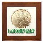 Who is John Galt? Framed Tile