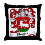 Walther Family Crest Throw Pillow