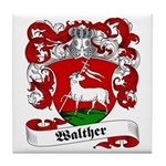 Walther Family Crest Tile Coaster